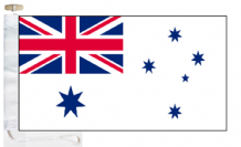 Australia Navy RAN White Ensign Courtesy Boat Flags (Roped and Toggled)